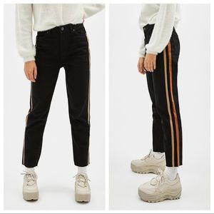 NWT. Bershka High waist mom jeans. Size 4.